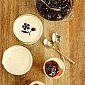 Que faire avec de la purée de pistache ? panna cotta lait fermente & puree de pistache, topping cerises confites facon amarena