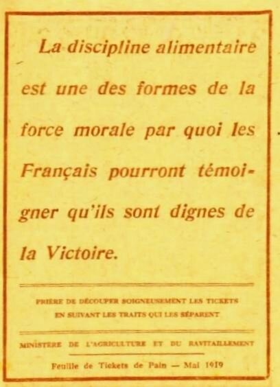 Discipline alim 1919