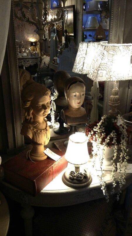 marotte,abat jour coquecigrues,buste Campo,lampes coquecigrues,
