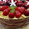 Le medovik gâteau russe