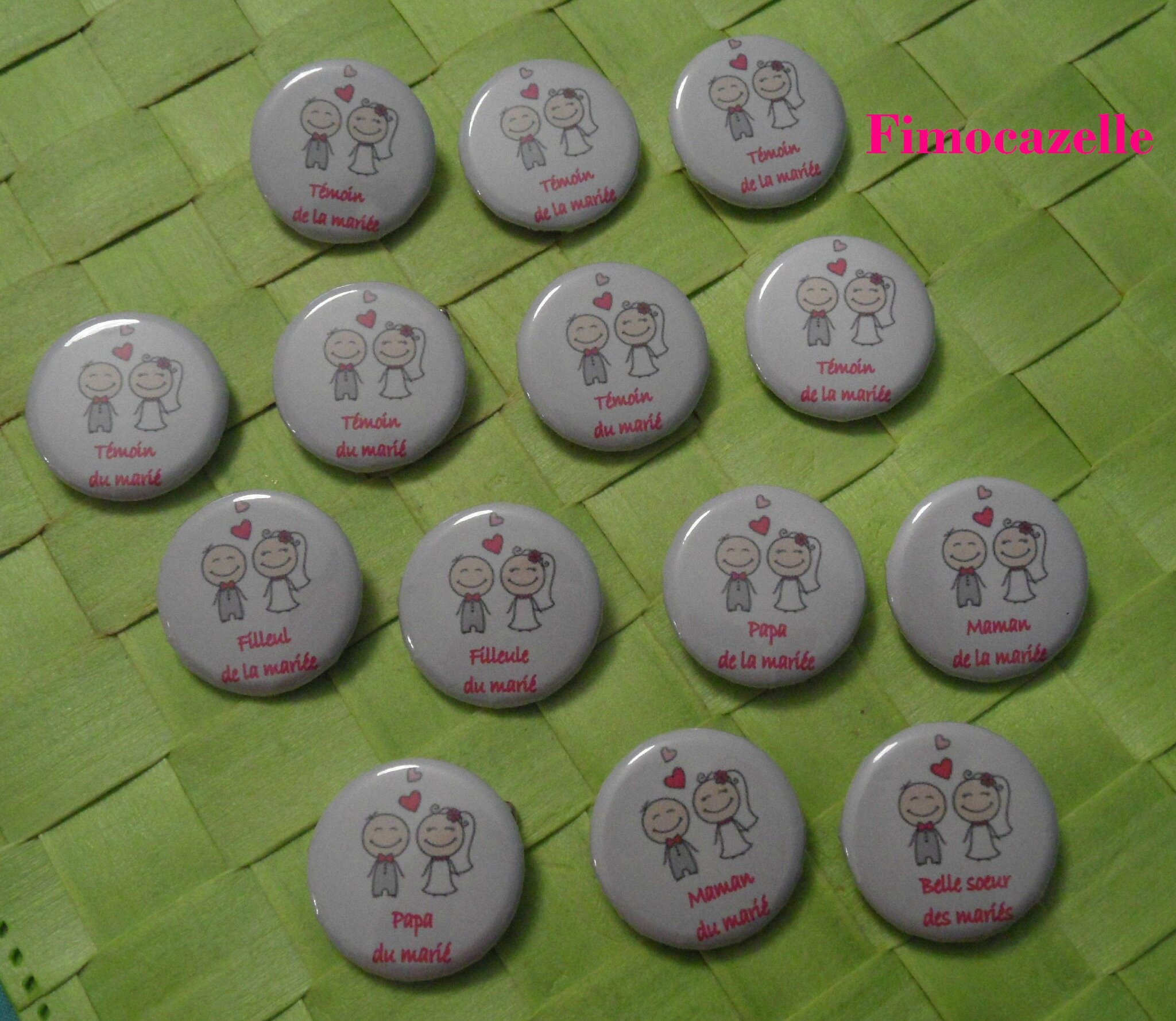 badges personnaliss - Badges Personnaliss Mariage