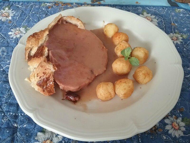 Cœur de jambon en croûte et sauce aux morilles (2)