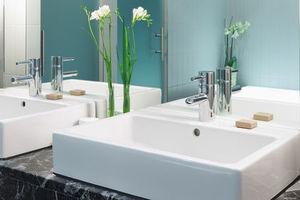 une vasque poser pour une salle de bain moderne