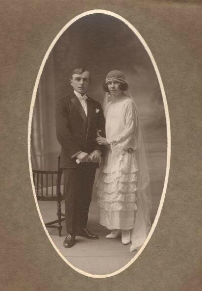 1924 mariage de Juliette et Jean François Cleren
