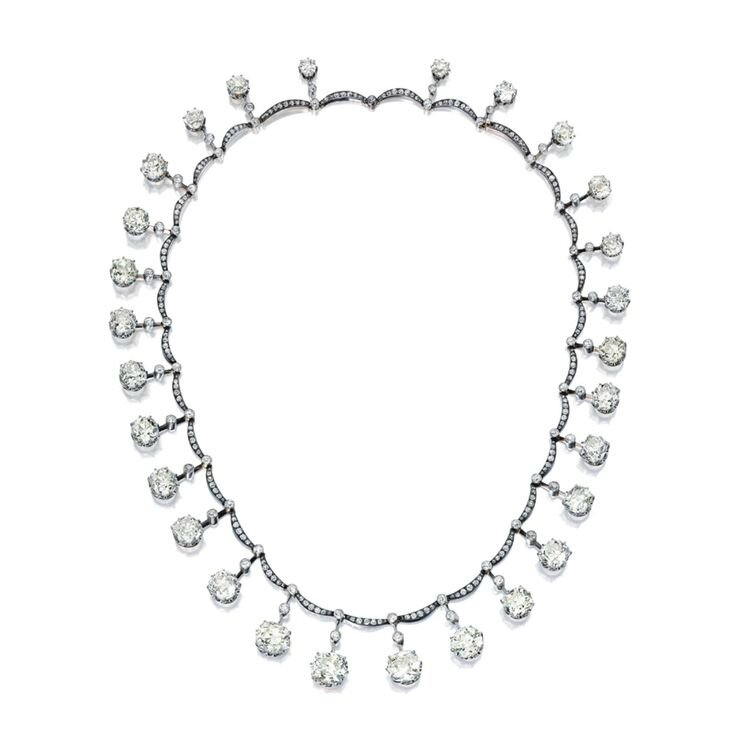 The Dowager Viscountess Harcourt Diamond Necklace. Important Diamond Necklace, Circa 1900