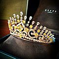Yellow & white diamond tiara by graff.