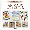 animaux au point de croix
