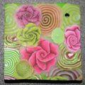 Millefiori Rose-Vert