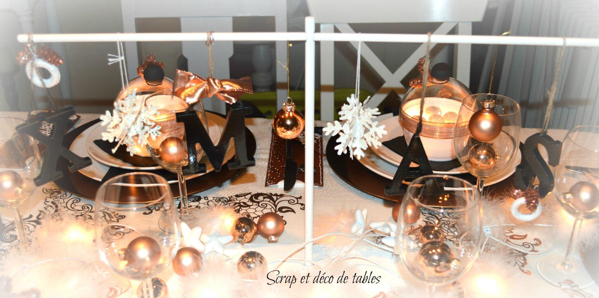 decoration de table de no l cuivre scrap et d co de tables. Black Bedroom Furniture Sets. Home Design Ideas