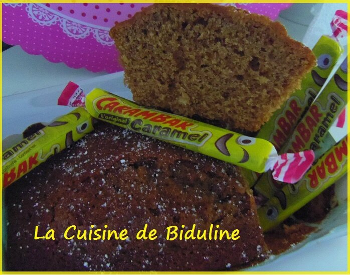 Cake aux Carambars - La Cuisine de Biduline