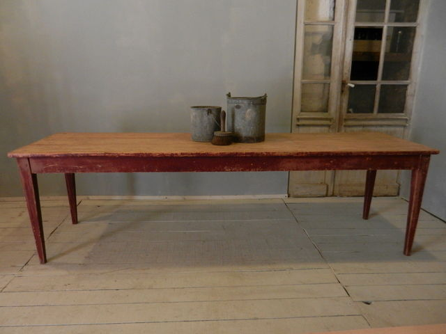 table de ferme longueur 2.50m - photo de stock 2 - .