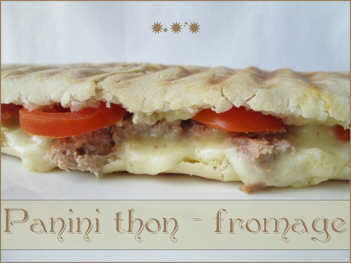 panini thon - fromage 1