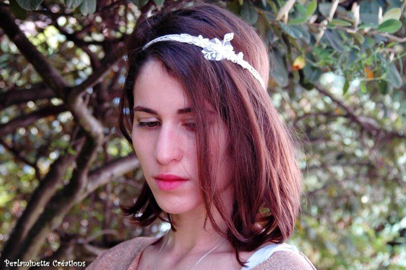 Headband mariee dentelle 2