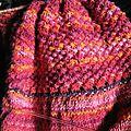 Joli point texturé pour de la laine à rayures