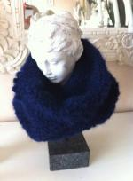 snood bleu marine 1