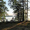 Puumala, vue sur le lac aux pieds de la cabane