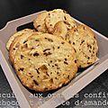 Biscuits aux oranges confites chocolat et pâte d'amandes