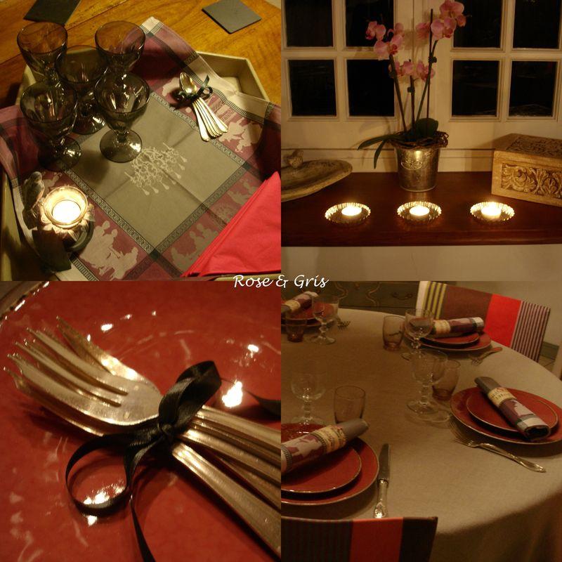 Petit d ner entre amis rose gris for Diner chic entre amis