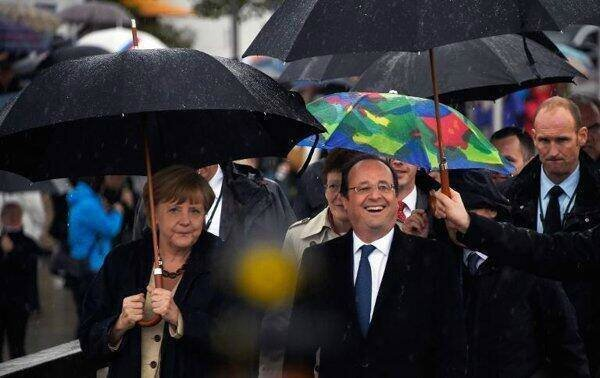 Hollande parapluie