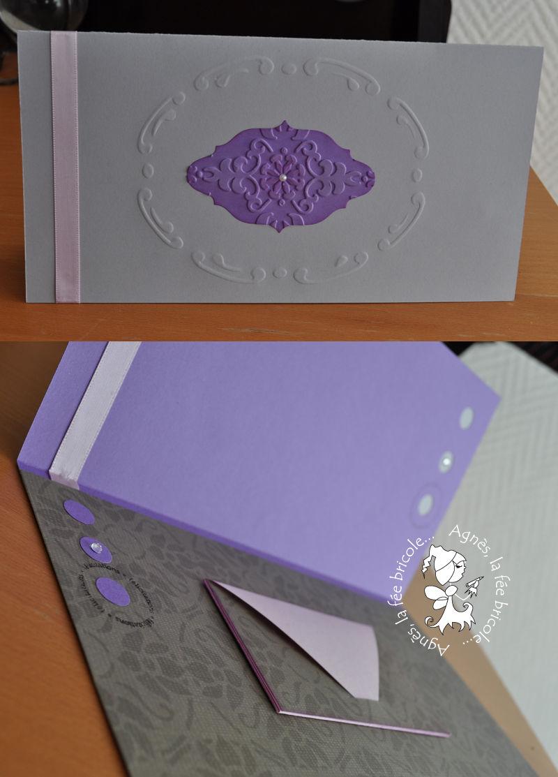 carte enveloppe grisviolet