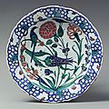 Plate, second half of 16th century, iznik, turkey