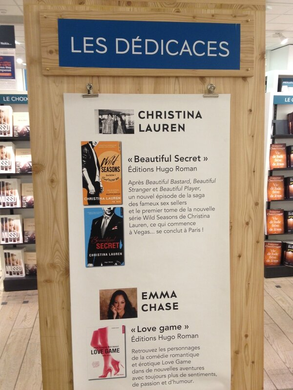 Christina Lauren & Emma Chase - Signing in Paris (BHV 4.20.15)