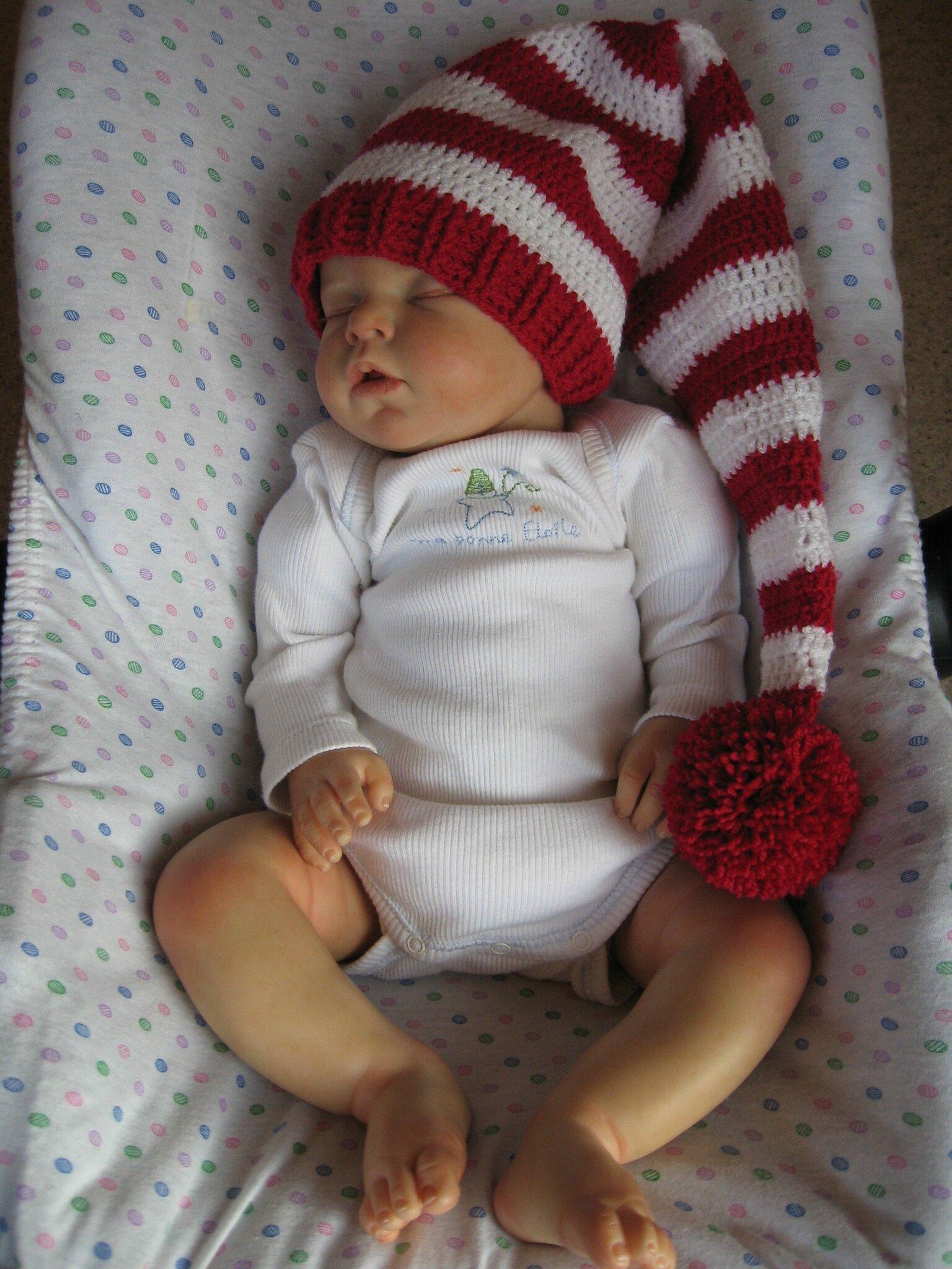 00ea8d39c973 Bonnet de lutin pour bébé ou reborn - Le crochet de Catherine ...