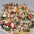 Salade pois chiche / feta / poivron