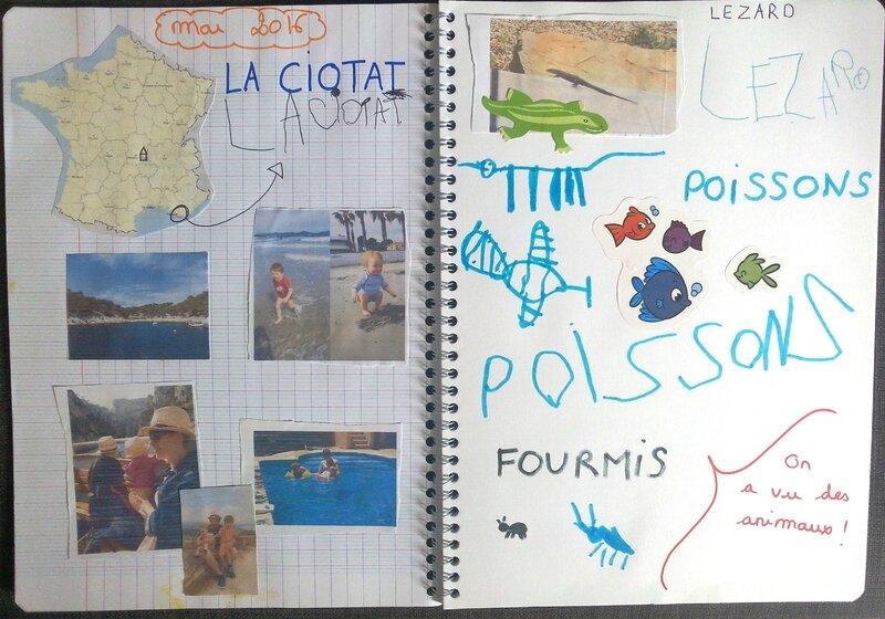 cahier de voyages