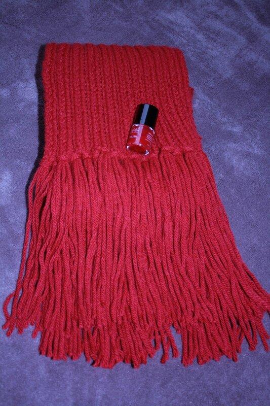 Echarpe rouge2