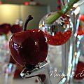 décoration de table rouge pomme d'amour
