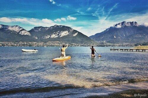 Lac Annecy canoe