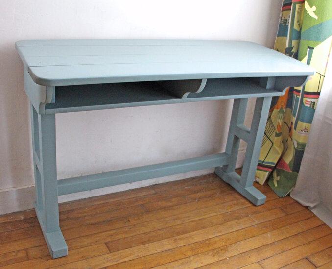 ancien-bureau-double-bleu-seul