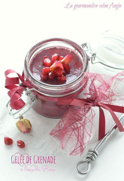 agar agar vegna gelée grenade eau de rose