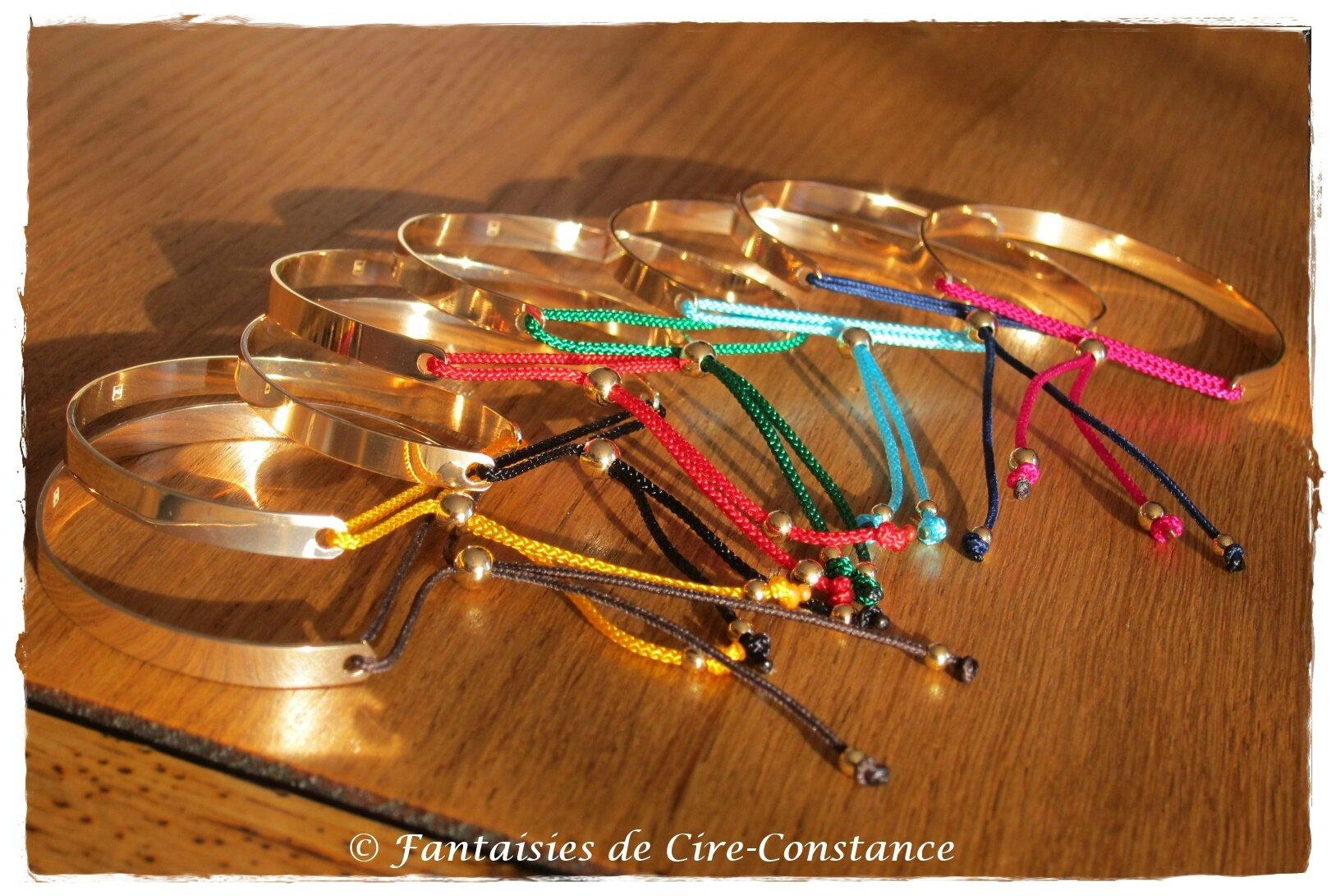 Plaqué or Bracelet Jonc ouvert Washington perles plaquées or