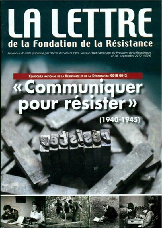 Fondation de la Résistance 2013