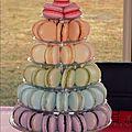 Macarons 6 étages (70 macarons)