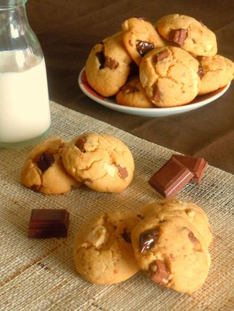 cookies beurre cacahute chocolat