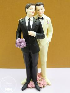 mariage gay mariage homosexuel pacs sujet pour pice monte - Figurine Mariage Gay
