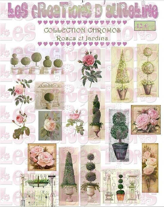 pochette roses et jardins
