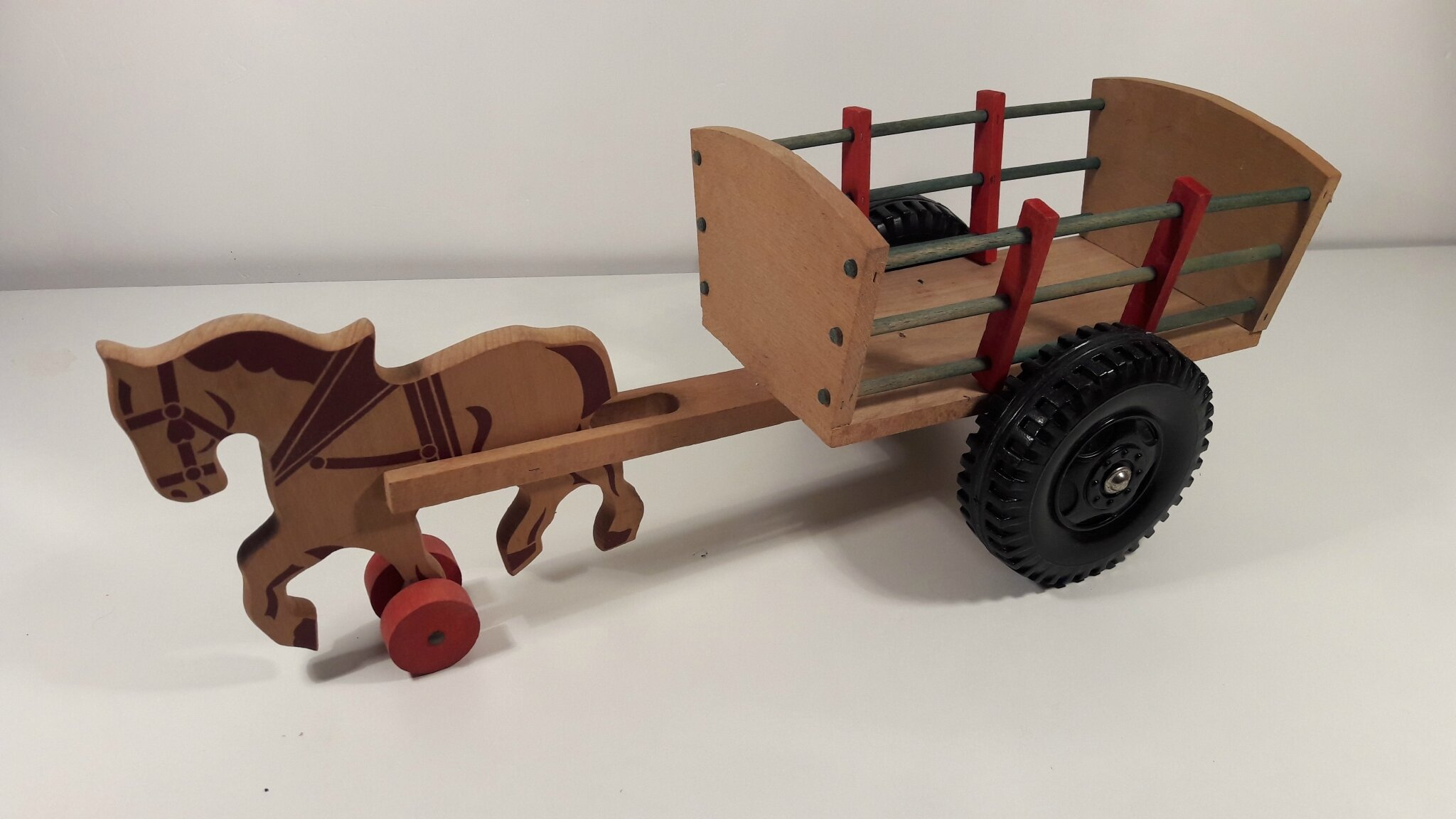 attelage charette en bois l 500 mm marque inconnue les jouets de nicolas. Black Bedroom Furniture Sets. Home Design Ideas
