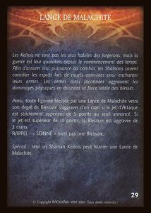 Enoch l'élémentaliste - lance_de_malachite (artefact)