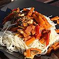 Wok aux légumes et au poulet