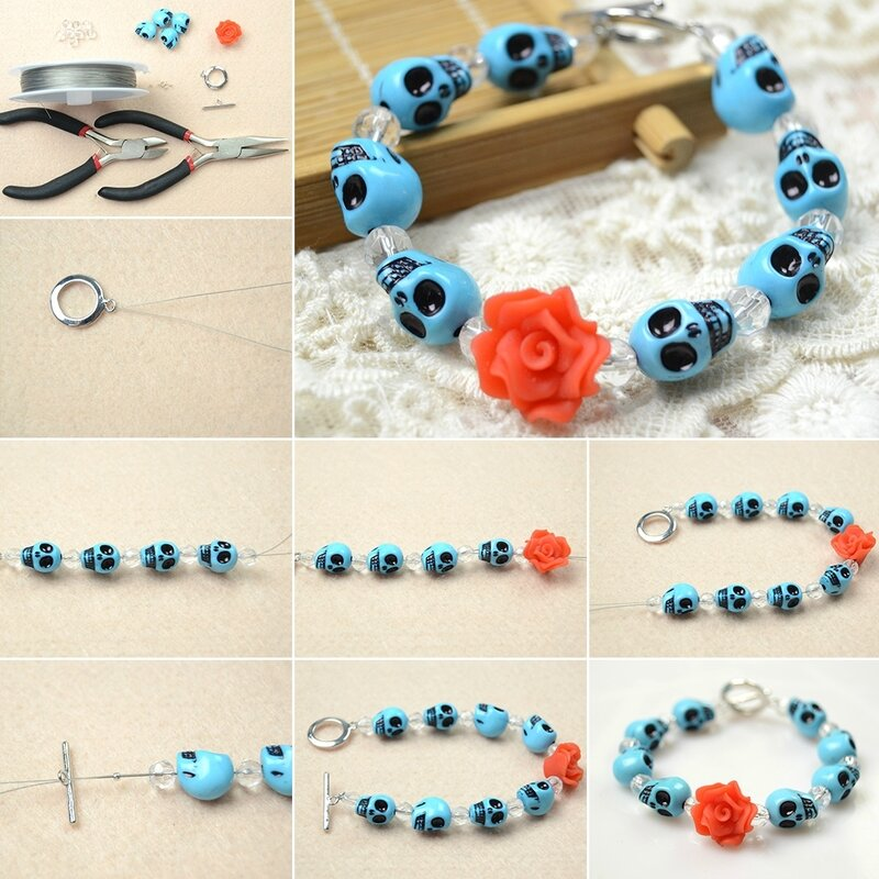How-to-Make-an-Easy-Turquoise-Skull-Bracelet-for-Girls