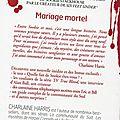 Mariage mortelle de charlaine harris