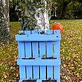 Recycler une petite palette en jardinière colorée