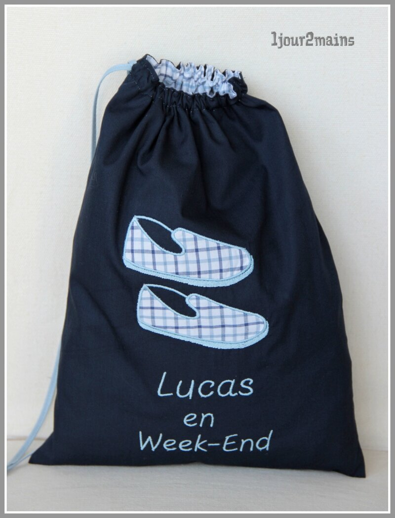 sac chaussons lucas