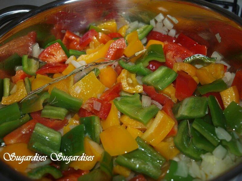 cuisson oignons poivrons 01