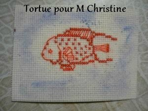 Tortue pour Marie Christine