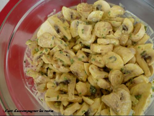 Salade de champignons de paris l 39 art d 39 accompagner les restes - Salade de champignons frais ...